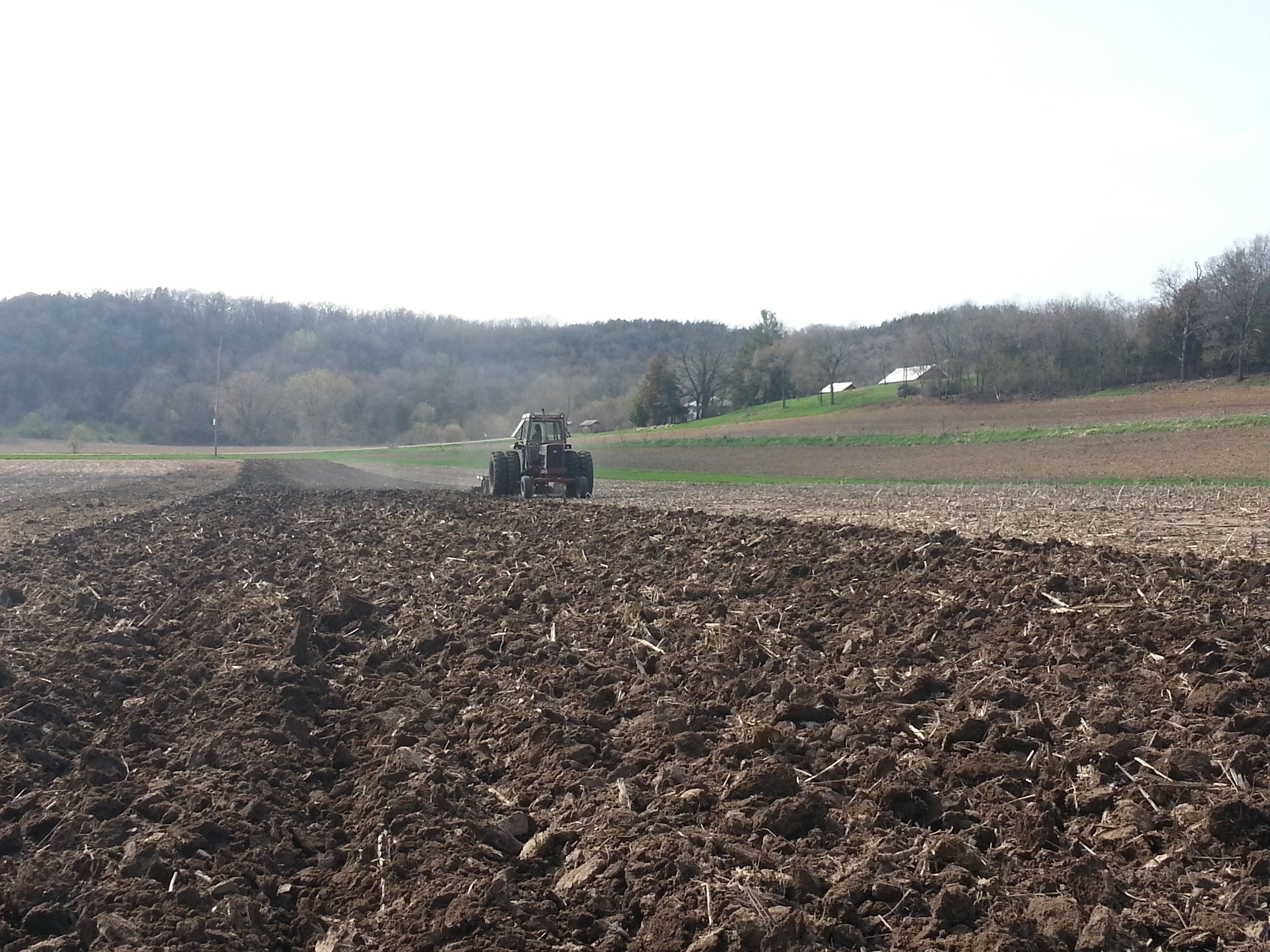 Plowing Treinen Farm Corn Maze
