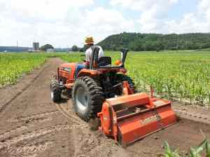 Tilling the corn maze